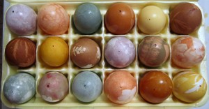 Naturally=Dyed Eggs