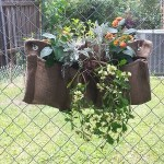 small garden wall pocket with flowers